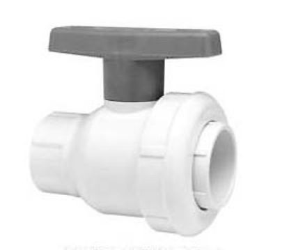 .75IN SKT BALL VALVE SINGLE ENTRY WHITE BUNA GASKET SPEARS 2412-007W