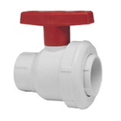 1.5IN SKT BALL VALVE SINGLE ENTRY WHITE BUNA GASKET SPEARS PV2412015W