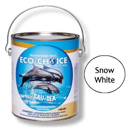 1 GAL SNOW WHT HIGH GLOSS RUBBER POOL PAINT ECOCHOICE SAUSEA 1ECPRSW