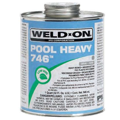 1 QT 746 POOL HEAVY CLEAR CEMENT CASE OF 12 IPS #13563 HEAVY IPS13563