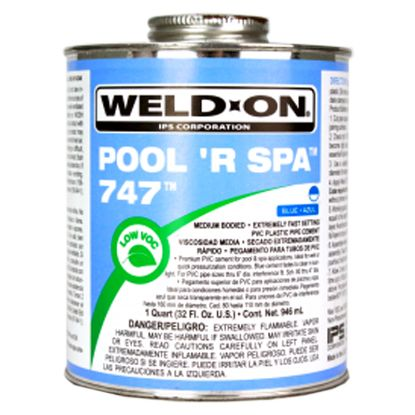 1 QT 747 POOL R SPA BLUE DRIES CLEAR CASE OF 12 PVC CEMENT  10852