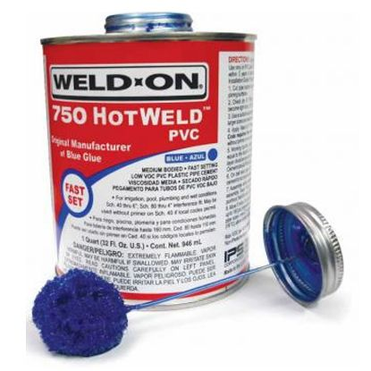 1 QT 750 HOTWELD PVC BLUE 12/CS 13751