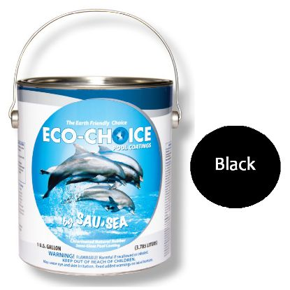 1GAL ECOCHOICE SEMIGLOSS BLACK SAUSEA SEMI GLOSS RUBBER 1ECSGRBK