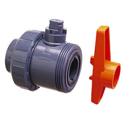 1IN SKT TRUE UNION BALL VALVE PVC S5 SERIES PRAHER PR120057