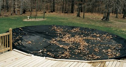 20' X 40' RECTANGLE LEAF NET COVER WINTER BLACK 24' x 44'  45-2040RE-LNT-4-BX