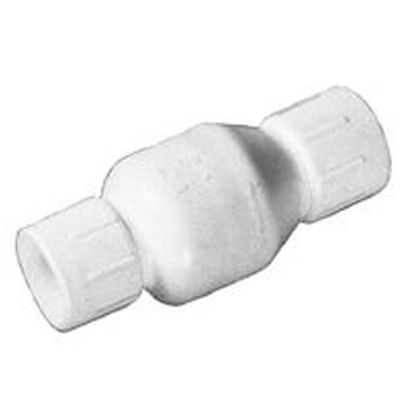 2IN SKT SWING CHECK VALVE PVC FLAP STYLE WHITE FLO CONTROL 1520-20