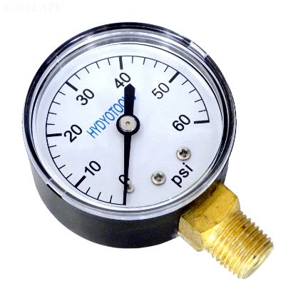 PRESSURE GAUGE 60PSI BOTTOM MOUNT 8960