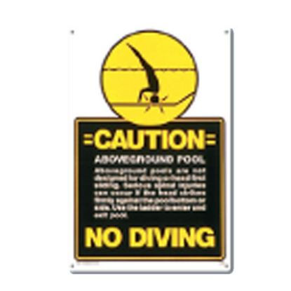 A/G POOL NO DIVING 40346