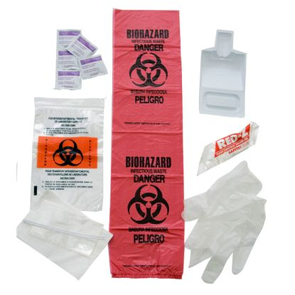 BLOODBOURNE PATHOGEN KIT IN PLASTIC BAG 10-599