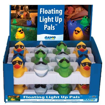 FLOATING LIGHT UP PALS CASE OF 12 GAME DISPLAY 3576-12IN