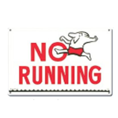P.MASTER#40312 SIGN-NO RUNNING 40312