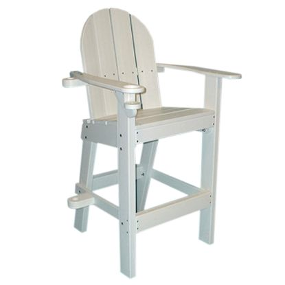 PLASTIC LIFEGUARD CHAIR - WHITE 30IN SEAT HEIGHT  30IN LONG LG500