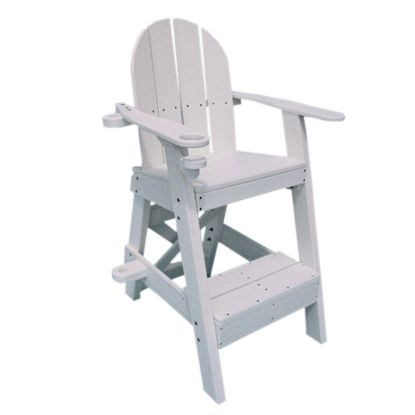 PLASTIC LIFEGUARD CHAIR - WHITE 30IN SEAT HEIGHT  33IN LONG LG505