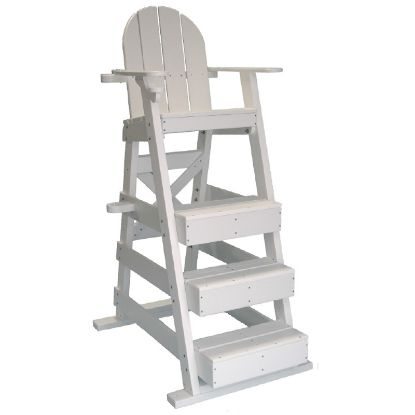 PLASTIC LIFEGUARD CHAIR - WHITE 50IN SEAT HEIGHT  43IN LONG LG515