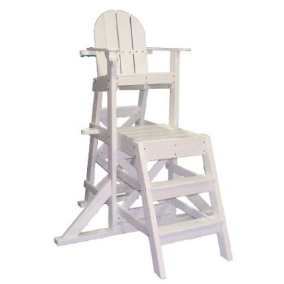 PLASTIC LIFEGUARD CHAIR - WHITE MEDIUM  FRONT LADDER MLG525
