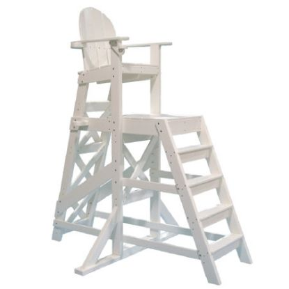 PLASTIC LIFEGUARD CHAIR - WHITE TALL  FRONT LADDER TLG535