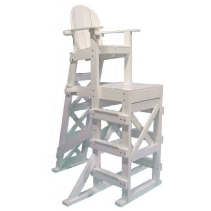 PLASTIC LIFEGUARD CHAIR - WHITE TALL  SIDE STEP TLG530