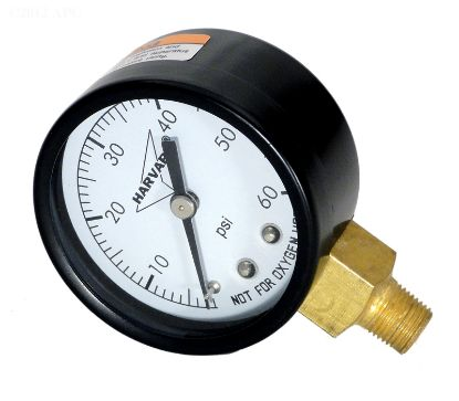 PRESSURE GAUGE STL 60# 1/8IN MPT LOWER STEEL CASE IPG602-8L