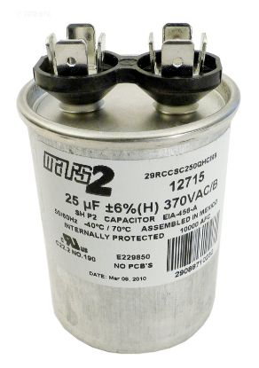 RUN CAPACITOR 25 MFD 370VAC RD-25-370