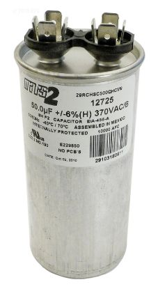 RUN CAPACITOR 50 MFD 370VAC RD-50-370
