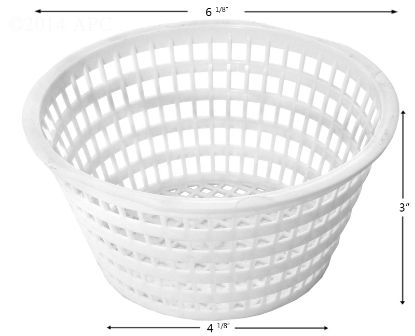 SKIMMER BASKET OLYMPIC ACM88 PLASTIC BTM: 4 1/8IN TOP: 6 1/ B-213