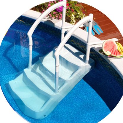 THE FESTIVA STACKABLE STEP WITH 2 PVC HANDRAILS LUMIO PG-5704