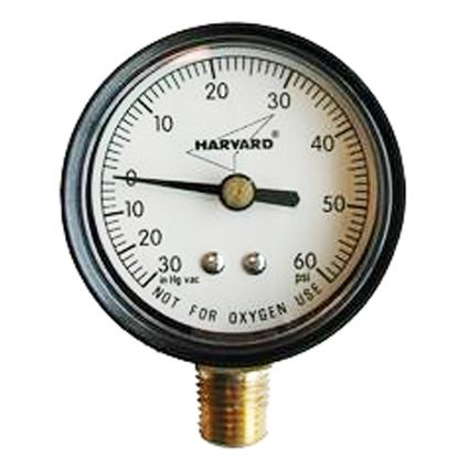 VAC/PRESSURE GAUGE STEEL 1/4IN BTM MOUNT NO LEAD GRANBY IPCG3102-4NL
